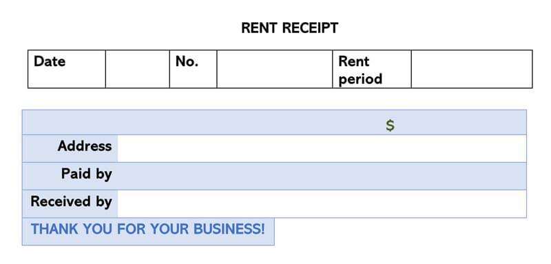 Rent Receipt 14
