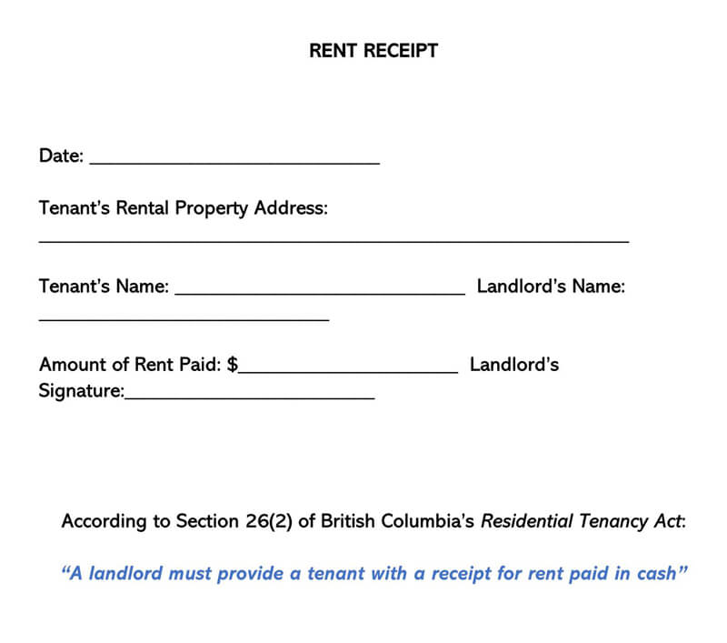 Rent Receipt 15
