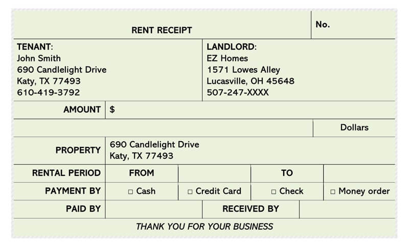 Rent Receipt 20