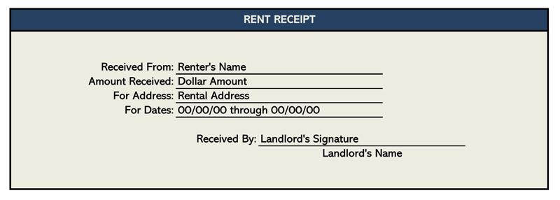 Rent Receipt Template Excel 02