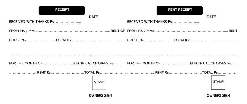 Rent Receipt Template Excel 03