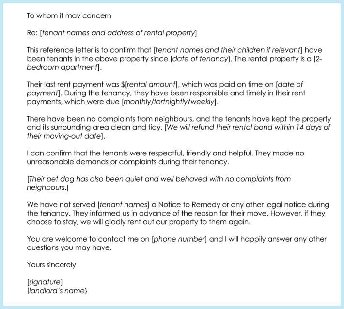 Rental reference letter 9 samples formats for prefessionals commercial rental reference letter sample altavistaventures Images