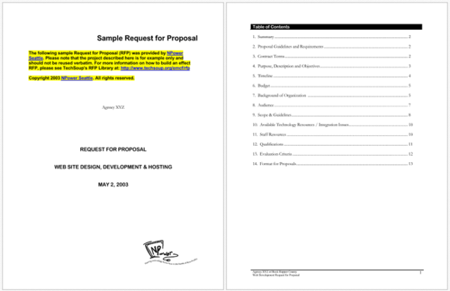 4 rfp templates to write a great request for proposal request for proposal example saigontimesfo