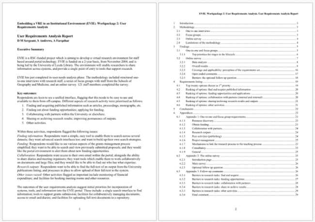 Requirements Analysis Report Template