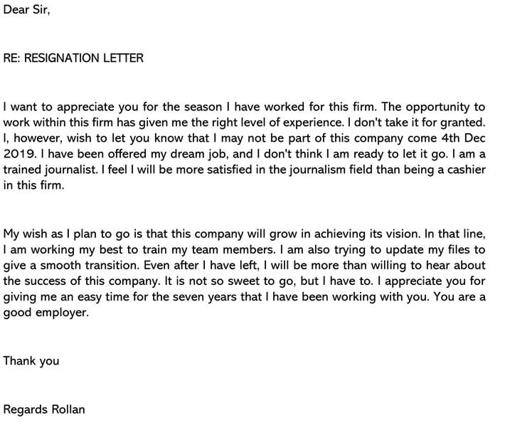 Letter For Quitting A Job from www.wordtemplatesonline.net