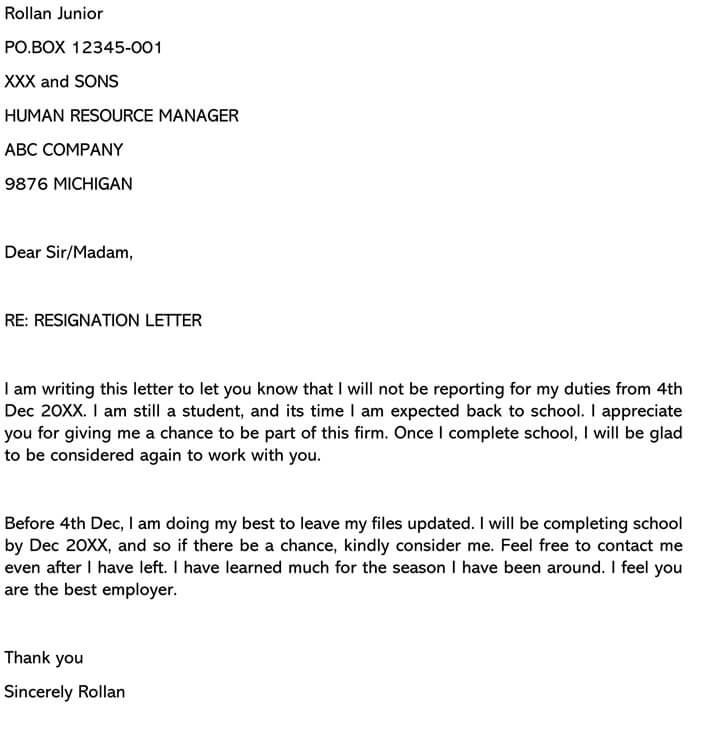 Resignation Letter Maternity Leave from www.wordtemplatesonline.net