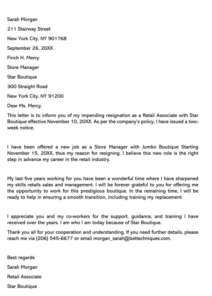 New Job Resignation Letter from www.wordtemplatesonline.net