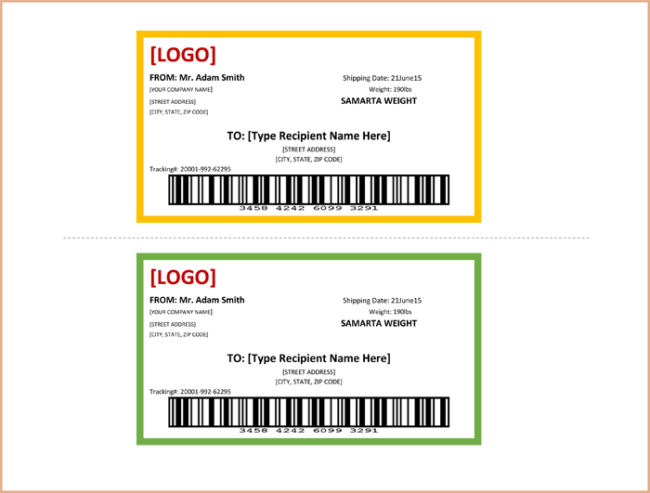 Return Address Label Templates - Print Multiple Labels in 1 sheet