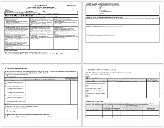 rca document template - report template asepag spreadsheet project production