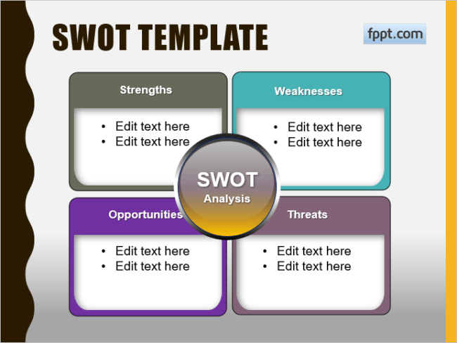 20 creative swot analysis templates word excel ppt and eps
