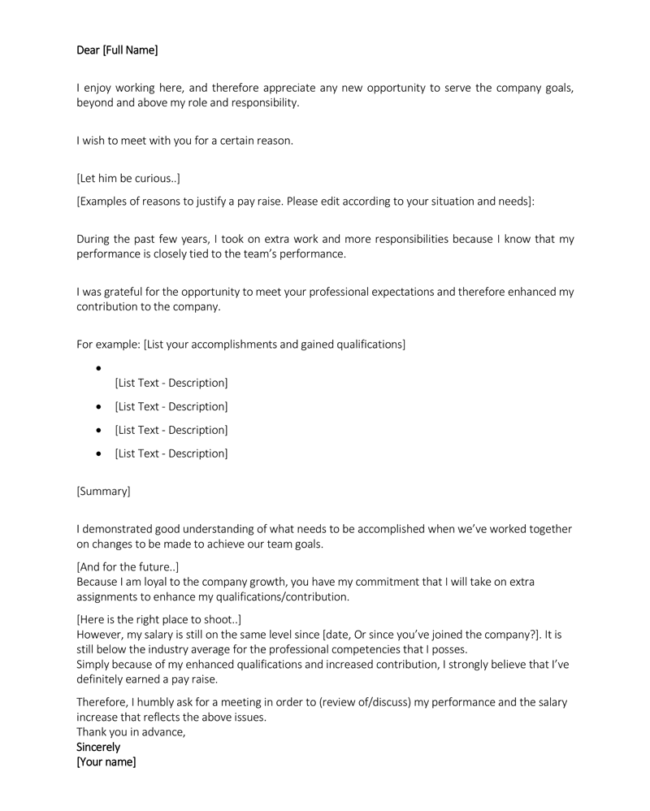 Salary-Increase-Letter-Format-650x811 Salary Advance Letter Template on to write letter, request nepali format, form for new joining employee, letter for vacation, letter format word, request process flow chart,