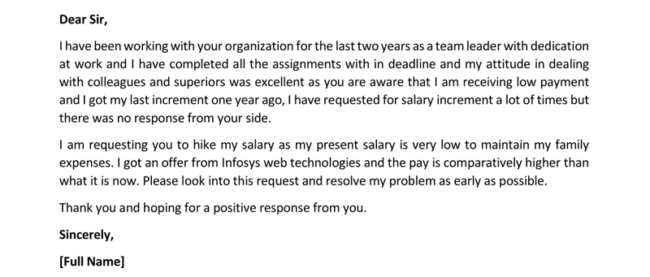 salary increase letter format for pdf