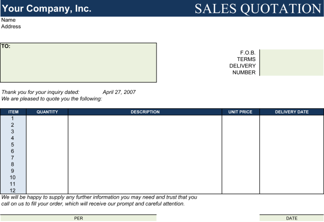 Price Quote Template - Make Price Quotations in Minutes