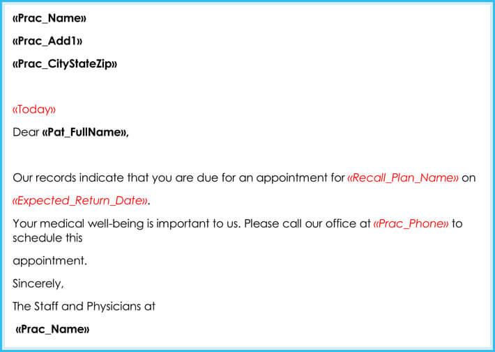 Doctor Appointment Letter   Samples  Formats In Pdf