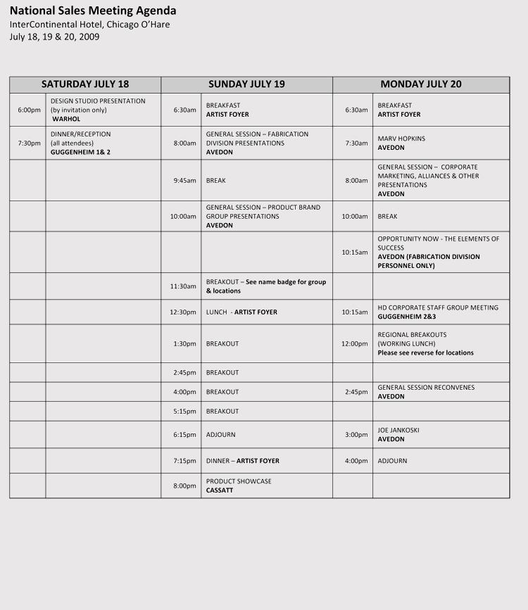 First Sales Meeting Agenda
