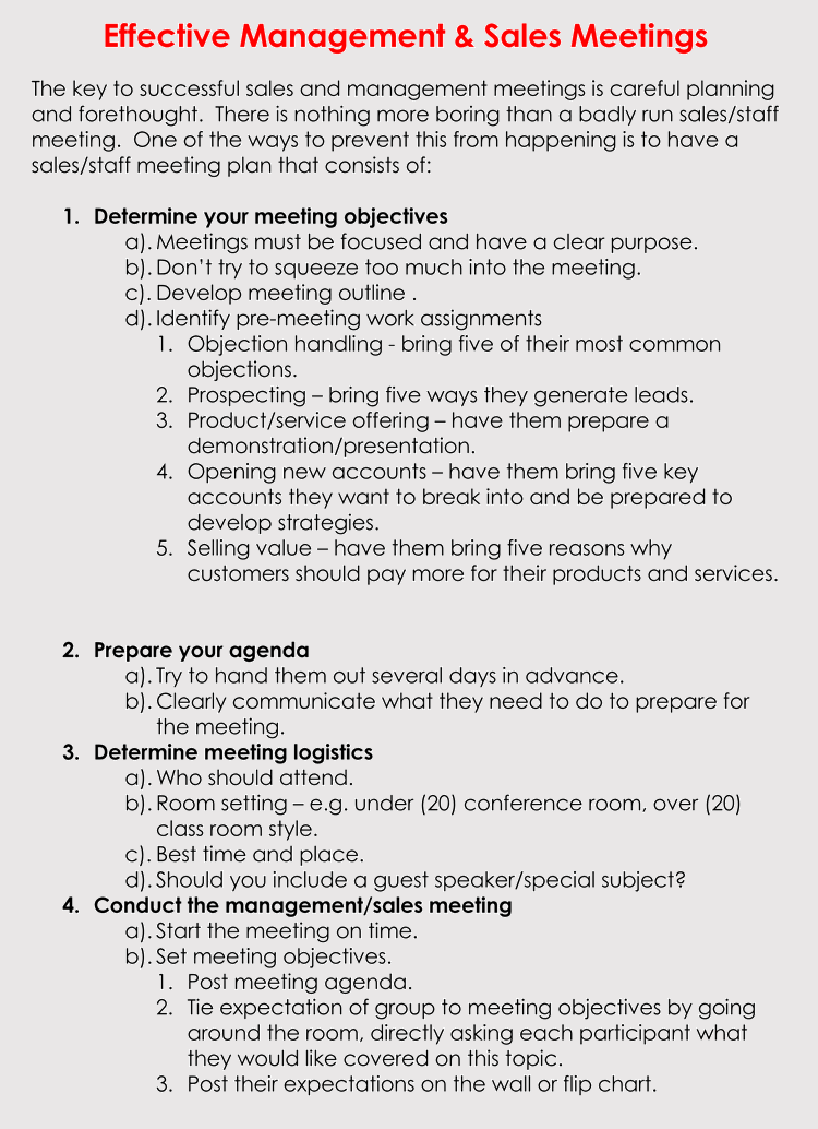 Free sales meeting agenda templates make meetings progressive sales meeting agenda examples maxwellsz