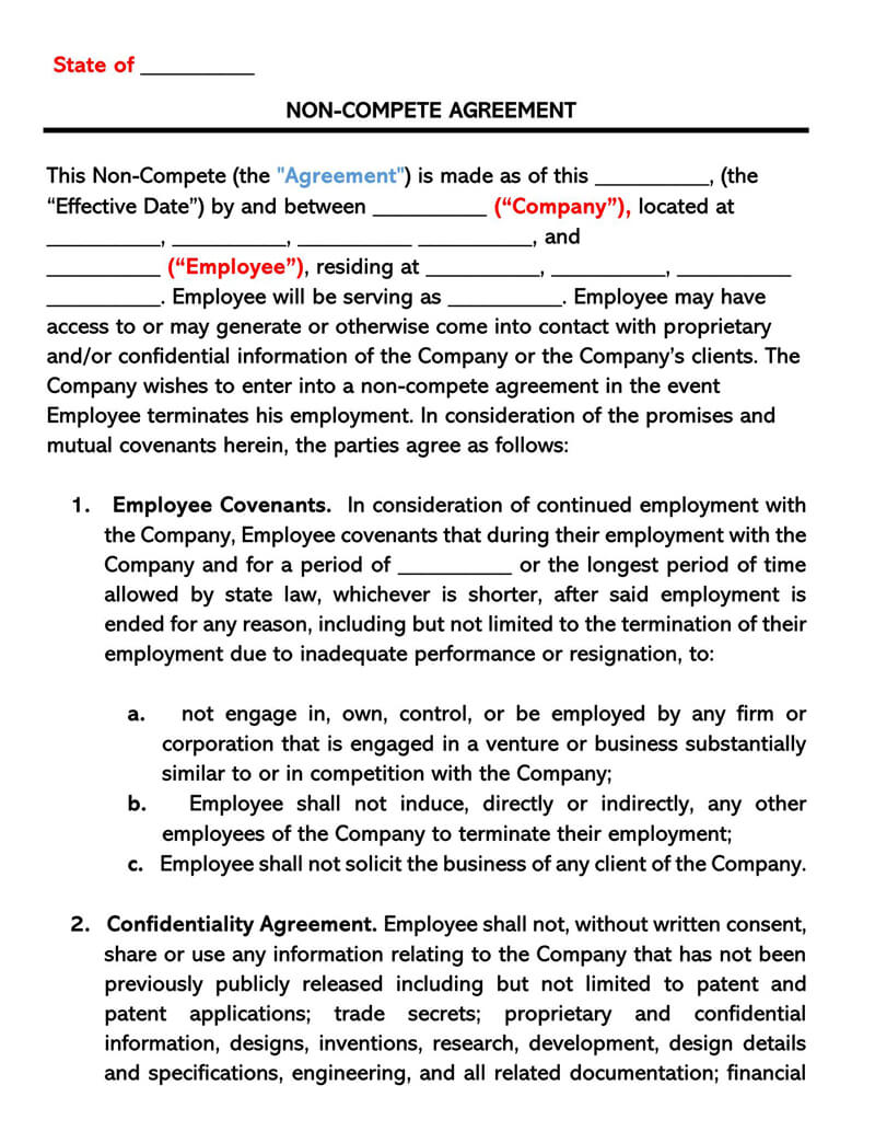 Sample-Employee-Non-Compete-Agreement