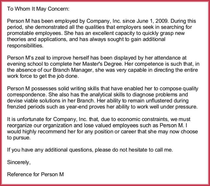 Employment Reference Letter Examples from www.wordtemplatesonline.net