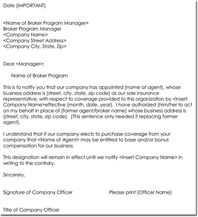 Agent Appointment Letter Template - 8+ Best Samples In Pdf And Word