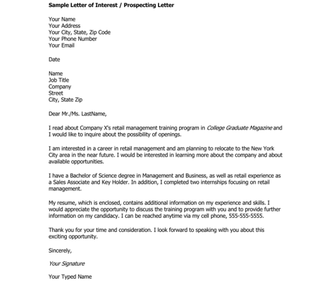 Great Sample Letter Of Interest For Company 1 Intended For Sample Letter Of Interest