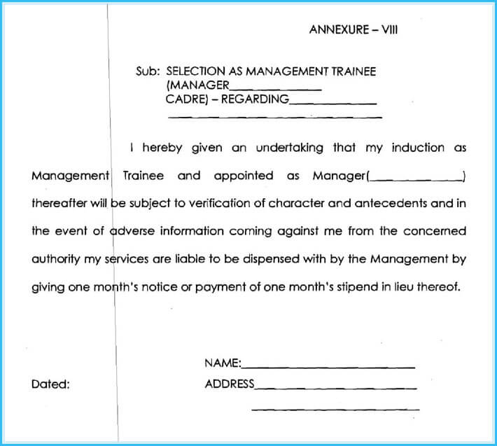 trainee appointment letter