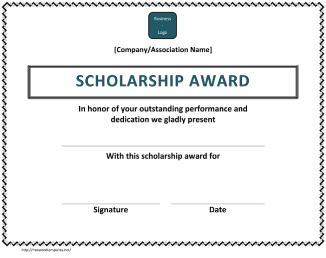 5 plus scholarship award certificate examples for word and pdf scholarship award certificate yelopaper Choice Image