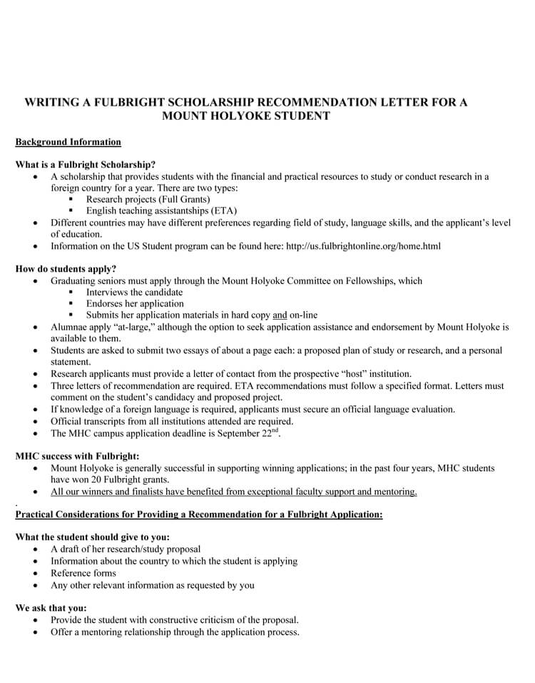 scholarship recommendation letter  20  sample letters with guidelines