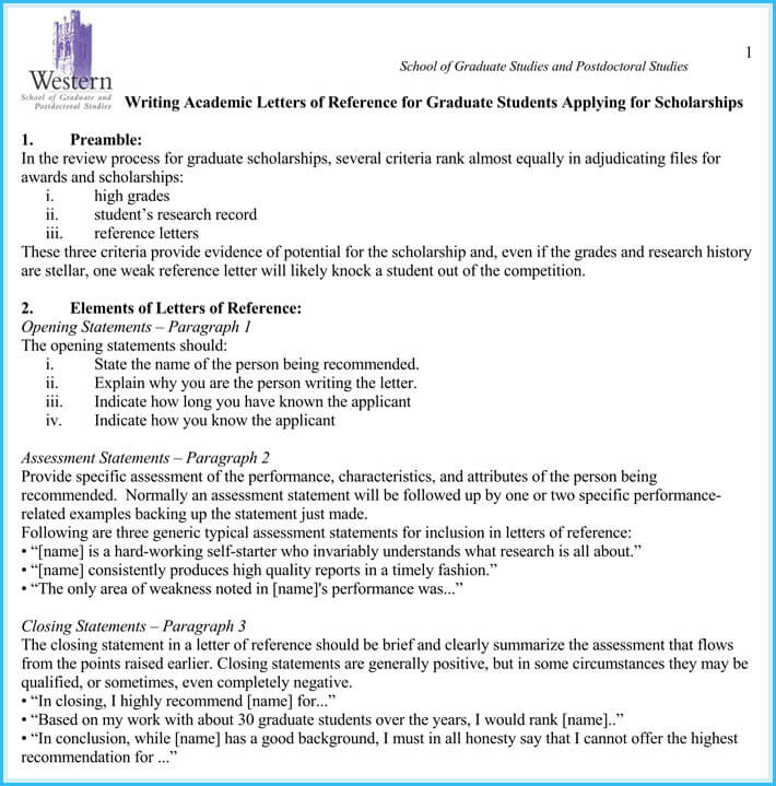 printable scholarship reference letter