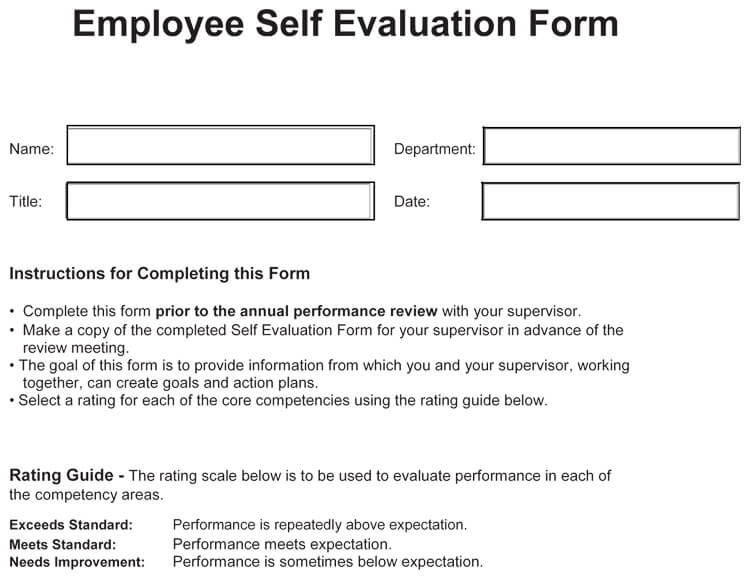 sample self evaluation comments