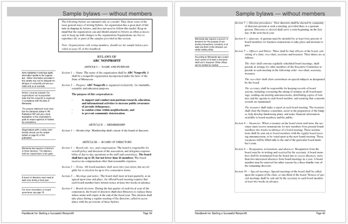 5 executive summary templates for word pdf and ppt for Free bylaws template