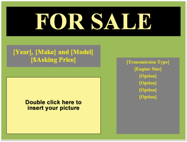 word for sale template