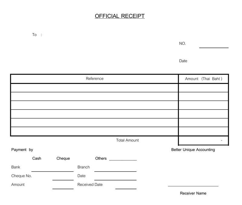 Simple Official  Receipt