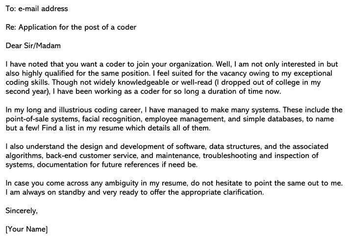 Software Engineering Cover Letter Sample Amp Email Example