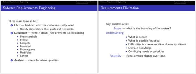 Software Requirement Analysis Template for PDF