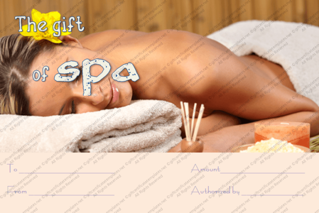 Special Treatment Spa Gift Certificate