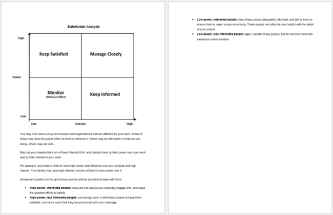 Stakeholder Analysis Template Doc