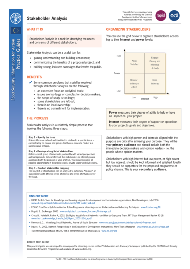 Stakeholder Analysis Template (Project Management)