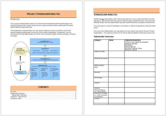 Stakeholder Analysis Template - 13+ Examples for Excel, Word and PDF
