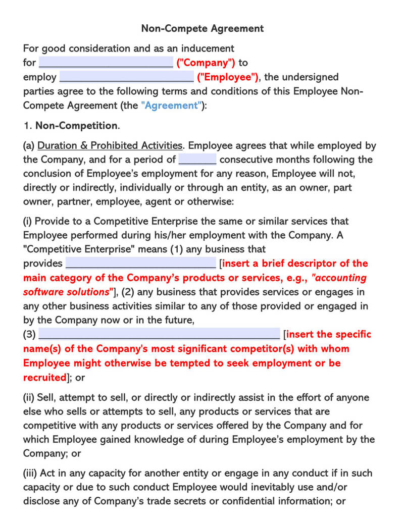 Standard-Empolyee-Non-Compete-Agreement-Template