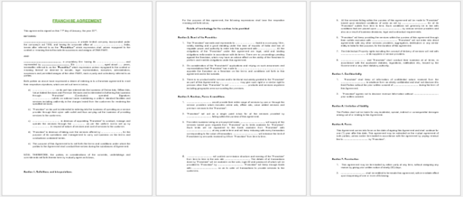 Standard Franchise Agreement Template