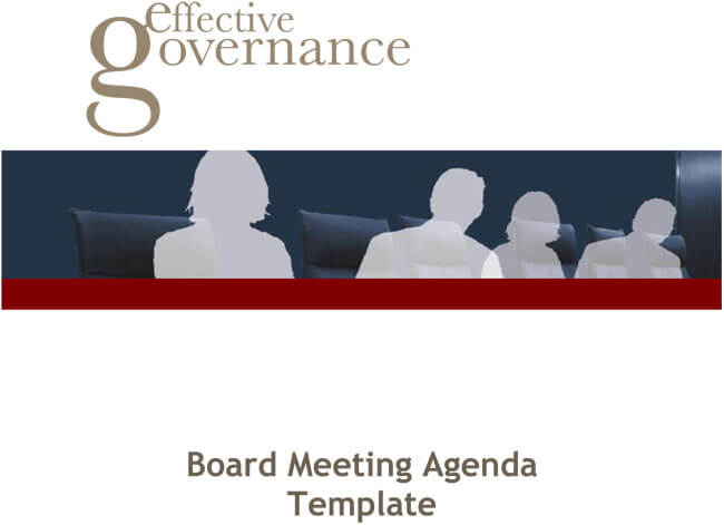 Startup Board Meeting Agenda