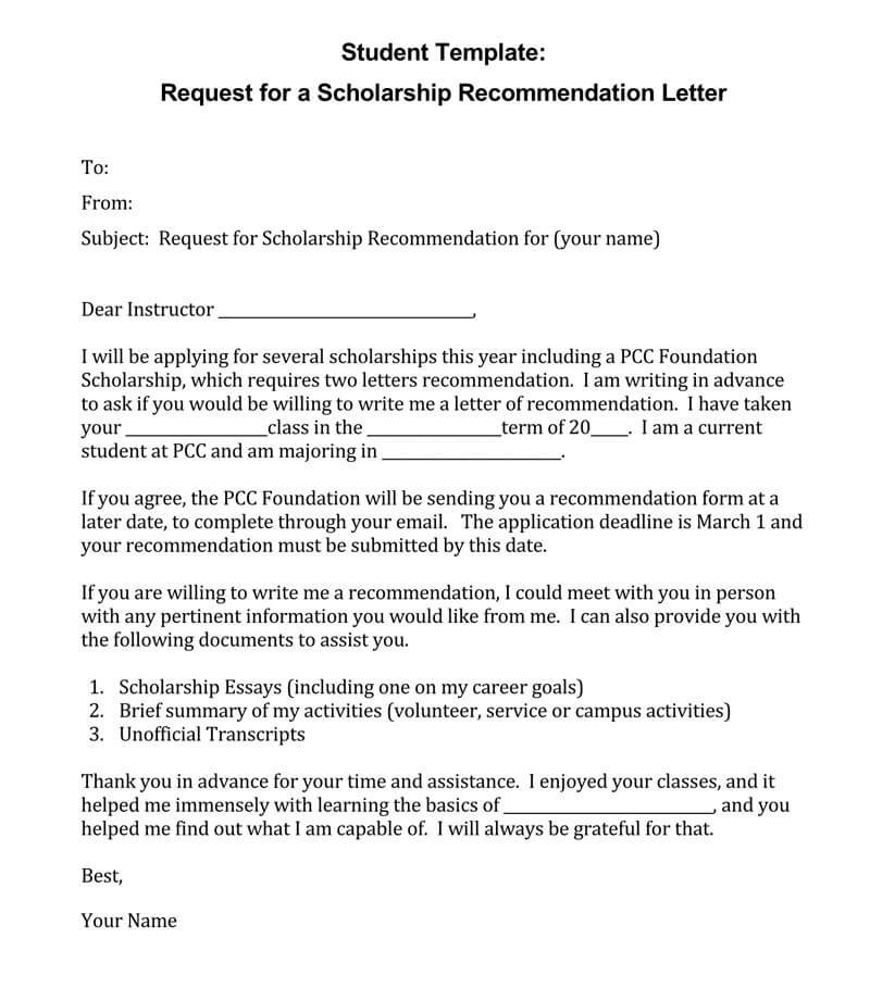 student recommendation letter  15  sample letters and