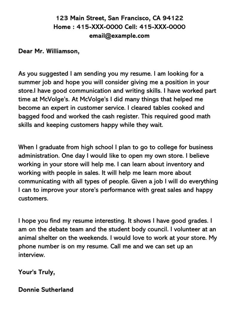 Cover Letter For Part Time Job In Retail from www.wordtemplatesonline.net