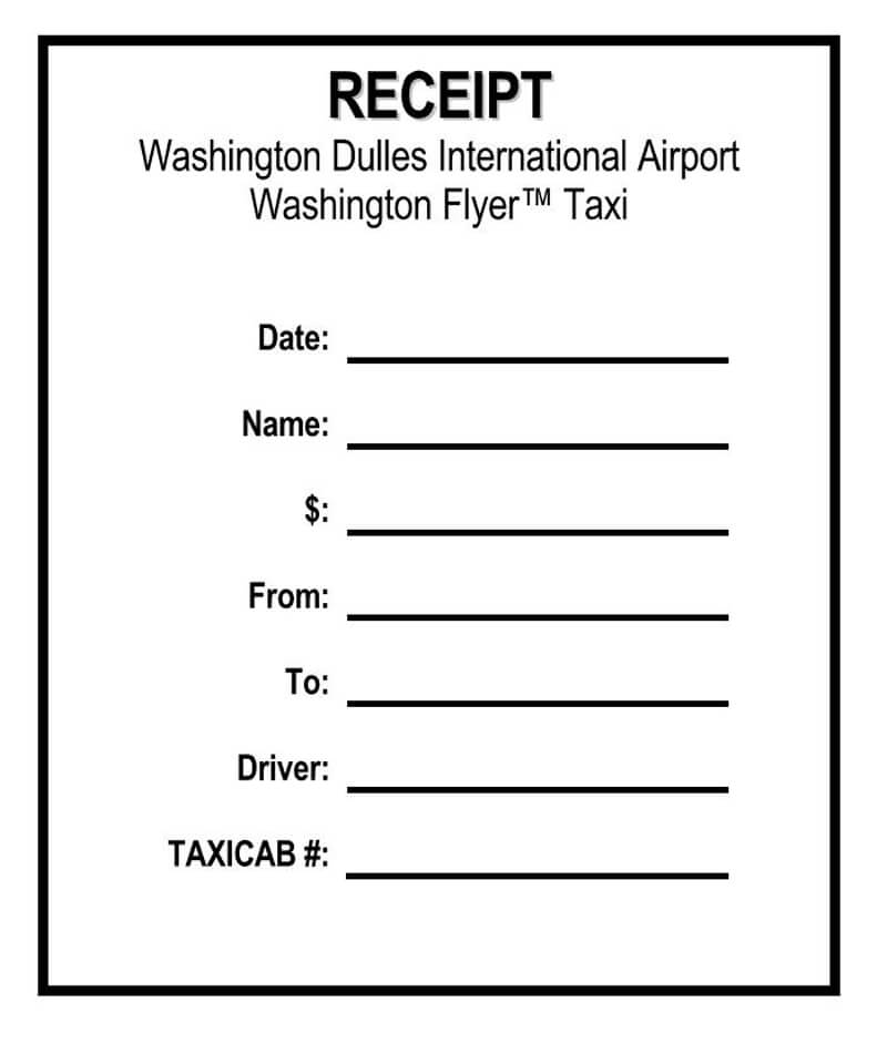 8 Free Taxi Cab Receipt Templates Word Pdf