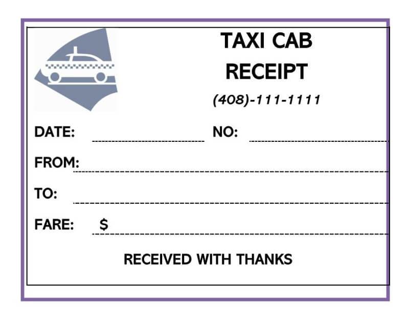 Taxi Receipt 02