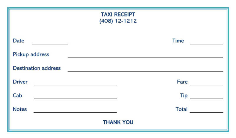 Taxi Receipt 03