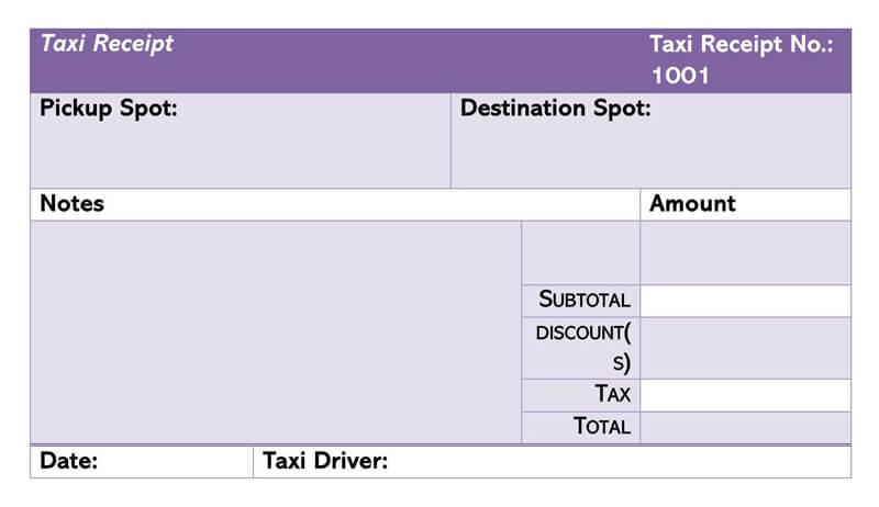 Taxi Receipt 04