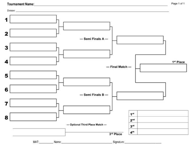 6 printable tournament brackets templates for word and excel for 6 team draw template