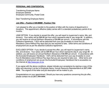 Transfer Offer Letter U2013 7+ Samples In Word, PDF