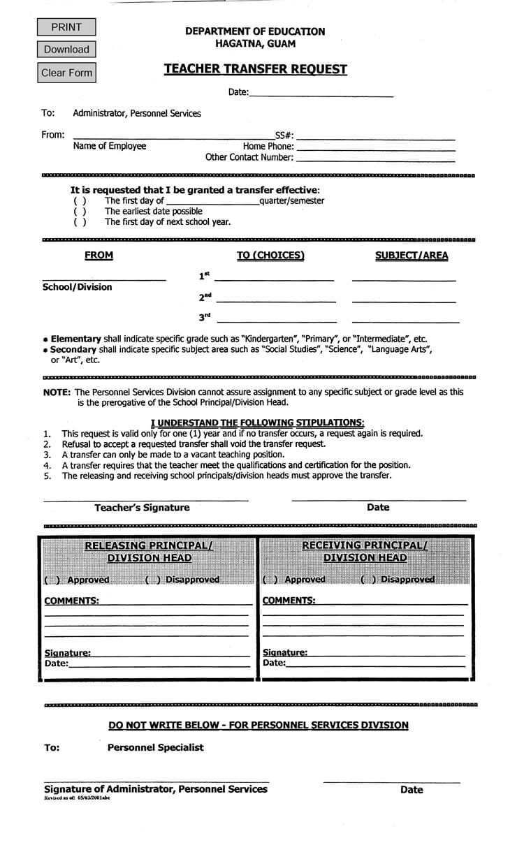 Transfer-Request-Letter-10 Sample Internal Job Application Form To Download on